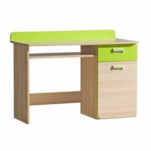 TEMPO KONDELA Ego L10 pc stolík jaseň / zelená