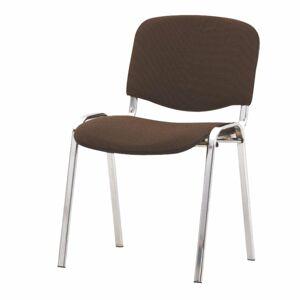 TEMPO KONDELA Iso konferenčná stolička chrómová / hnedá