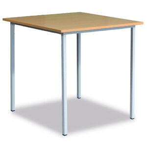 NABBI 06-076 09 klubový stôl zo štvorcového profilu 120x80 cm svetlosivá / buk
