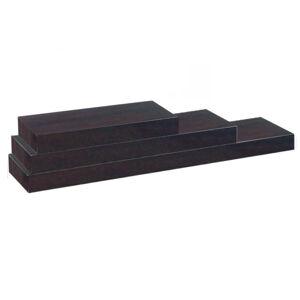 TEMPO KONDELA Gana polica 60x25 cm čierna