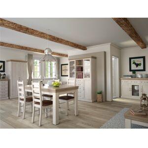 TEMPO KONDELA Royal jedáleň biela sosna nordická / dub divoký