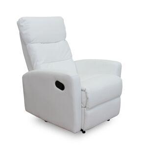 TEMPO KONDELA Silas relaxačné kreslo biela