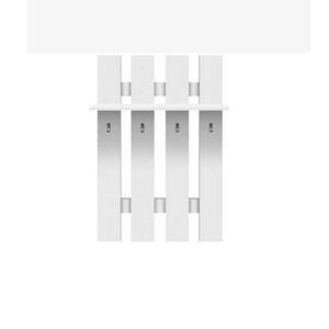 TEMPO KONDELA Topty Typ 17 vešiaková stena biela