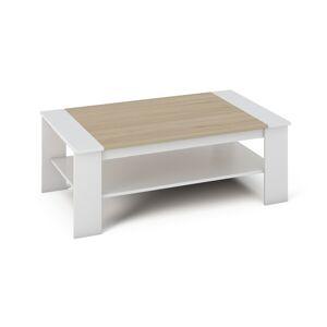 TEMPO KONDELA Baker konferenčný stolík biela / dub sonoma