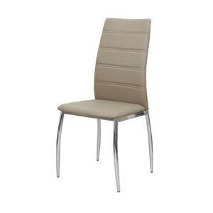 TEMPO KONDELA Dela jedálenská stolička hnedá / chrómová