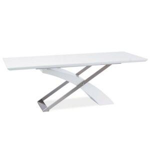 TEMPO KONDELA Kros rozkladací jedálenský stôl biela