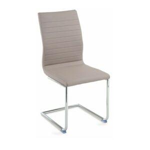 TEMPO KONDELA Otila jedálenská stolička béžová / chrómová