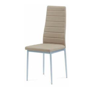 TEMPO KONDELA Coleta New jedálenská stolička béžová / strieborná