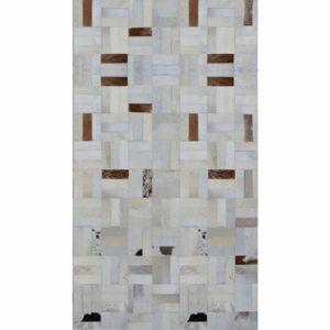 TEMPO KONDELA Typ 1 kožený koberec 120x180 cm vzor patchwork