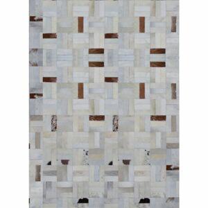TEMPO KONDELA Typ 1 kožený koberec 140x200 cm vzor patchwork