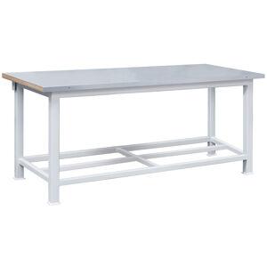 NABBI 3T pracovný stôl s plechovou policou svetlosivá