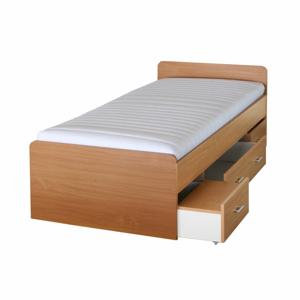 TEMPO KONDELA Duet 80262 90 manželská posteľ s úložným priestorom buk