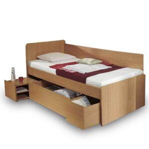 TEMPO KONDELA Oto 90 jednolôžková posteľ s úložným priestorom buk