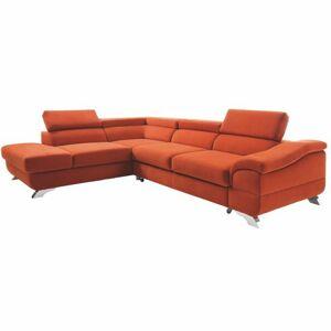 TEMPO KONDELA Legas L rohová sedačka terakota