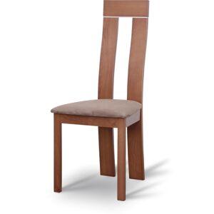 TEMPO KONDELA Desi jedálenská stolička čerešňa / hnedá