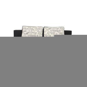 TEMPO KONDELA Elize rozkladacia pohovka s úložným priestorom čierna / vzor