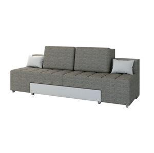 NABBI Alcoba rozkladacia pohovka s úložným priestorom sivá / biela