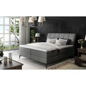 NABBI Altama 140 čalúnená manželská posteľ s úložným priestorom sivá (Sawana 05)
