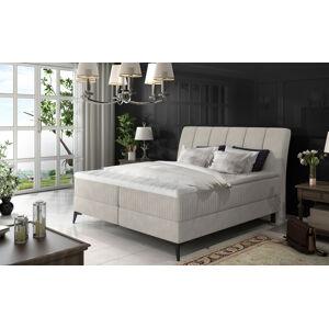 NABBI Altama 180 čalúnená manželská posteľ s úložným priestorom svetlosivá (Soro 83)