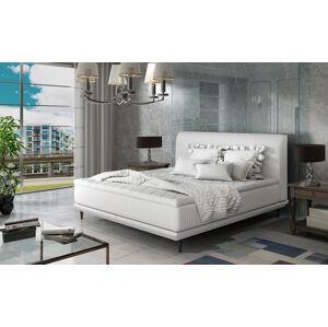 NABBI Ancona 160 čalúnená manželská posteľ biela