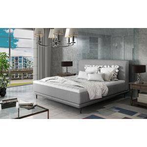 NABBI Ancona 160 čalúnená manželská posteľ svetlosivá (Cover 83)