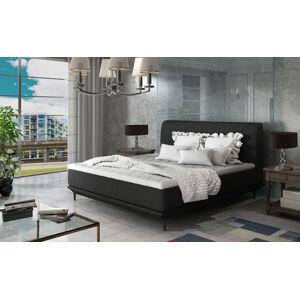 NABBI Ancona 180 čalúnená manželská posteľ čierna (Sawana 14)