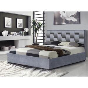 HALMAR Annabel 160 čalúnená manželská posteľ s úložným priestorom sivá
