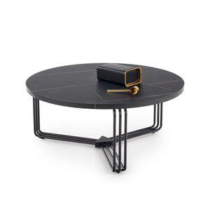 HALMAR Antica konferenčný stolík čierny mramor / čierna