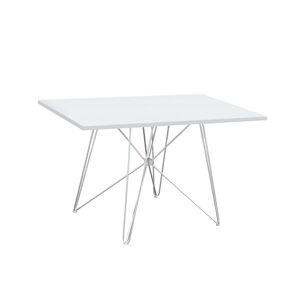TEMPO KONDELA Artem jedálenský stôl biela / chróm