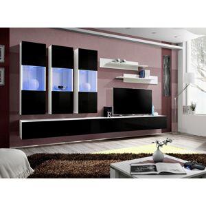 ASM Fly E2 WS obývacia stena s osvetlením biela / čierna
