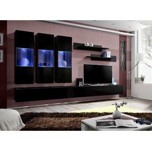 ASM Fly E2 ZZ obývacia stena s osvetlením čierna