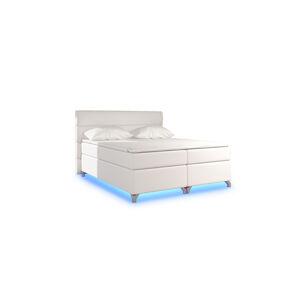 NABBI Avellino 160 čalúnená manželská posteľ s úložným priestorom béžová (Soft 33)