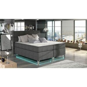 NABBI Avellino 160 čalúnená manželská posteľ s úložným priestorom sivá (Sawana 05)