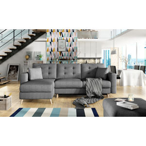 NABBI Aveza L/P rohová sedačka s rozkladom a úložným priestorom sivá (Sawana 05)
