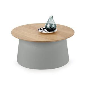 HALMAR Azzura okrúhly príručný stolík prírodná / sivá
