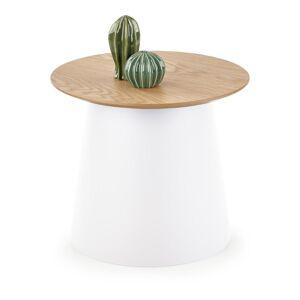 HALMAR Azzura S okrúhly príručný stolík prírodná / biela