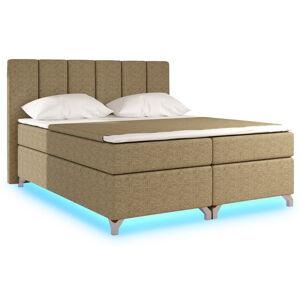 NABBI Barino 180 čalúnená manželská posteľ s úložným priestorom cappuccino
