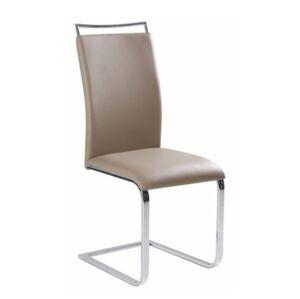 TEMPO KONDELA Barna New jedálenská stolička svetlohnedá / chróm