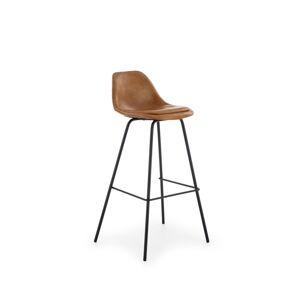HALMAR H-90 barová stolička svetlohnedá / čierna