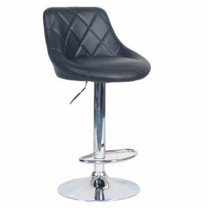 TEMPO KONDELA Marid barová stolička čierna / chróm
