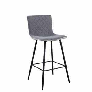 TEMPO KONDELA Torana barová stolička svetlosivá / sivá / chróm