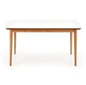 HALMAR Barret rozkladací jedálenský stôl biela / dub lefkas