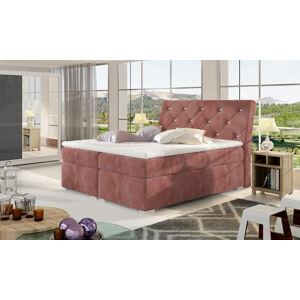NABBI Beneto 180 čalúnená manželská posteľ s úložným priestorom ružová (Kronos 29)