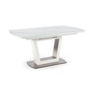 HALMAR Blanco rozkladací jedálenský stôl biely mramor / biela