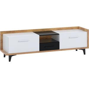 MEBLOCROSS Box Box-09 tv stolík craft zlatý / biela / čierna