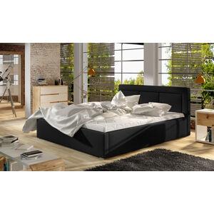 NABBI Branco UP 200 čalúnená manželská posteľ s roštom čierna