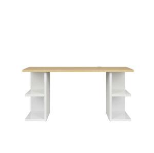 BLACK RED WHITE Denton BIU/160 písací stôl biely lesk / dub poľský