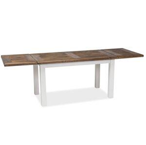 SIGNAL Poprad II rozkladací jedálenský stôl hnedý vosk / biely vosk