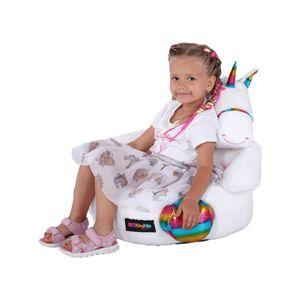 KONDELA Bufel sedací vak biela / ružová / kombinácia farieb