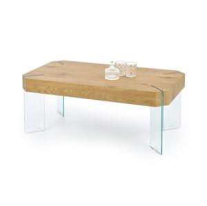 HALMAR Capela konferenčný stolík dub zlatý / priehľadná